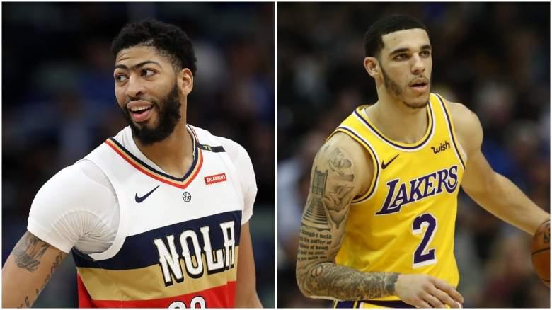 Lakers Anthony Davis trade Bulls Lonzo Ball