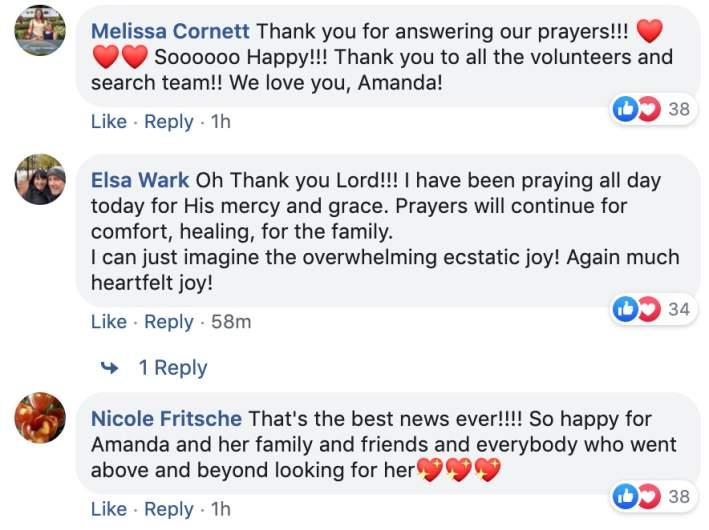 Amanda Eller Facebook Comments