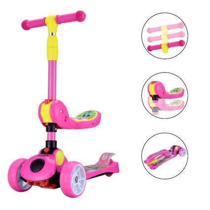 AOODIL 2-in-1 Kick Scooters for Kids