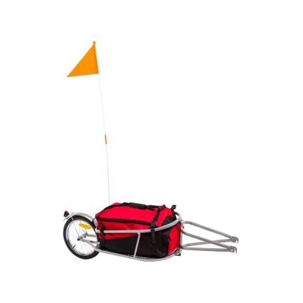 Apex Single Wheel Pull-Behind Bicycle Trailer with Cargo Bag