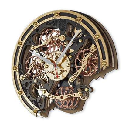 automaton bite steampunk wall clock