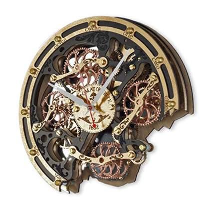 automaton bite steampunk wall clock
