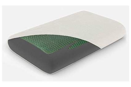 bamboo charcoal infused memory foam cooling pillow