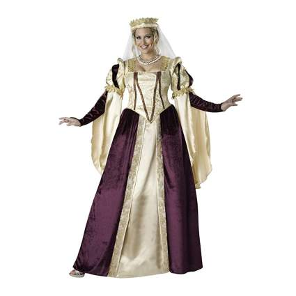 plum and cream plus size renaissance princess costume