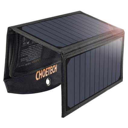 CHOETECH 19W Solar Phone Charger Dual USB Port