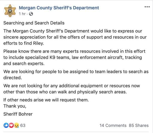 Riley Crossman Morgan County Sheriff's Department