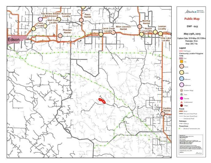 EWF043 fire map