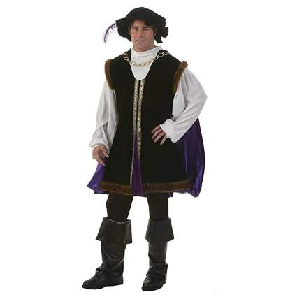 purple velevet and faux fur lord costume