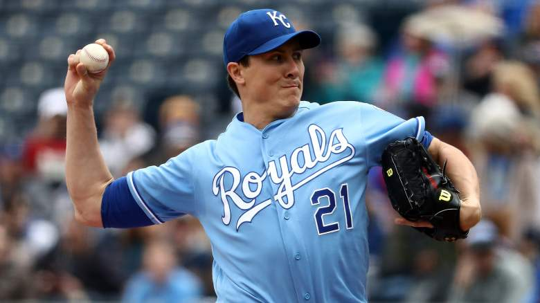 Starting pitcher Homer Bailey #21 of the Kansas City Royals