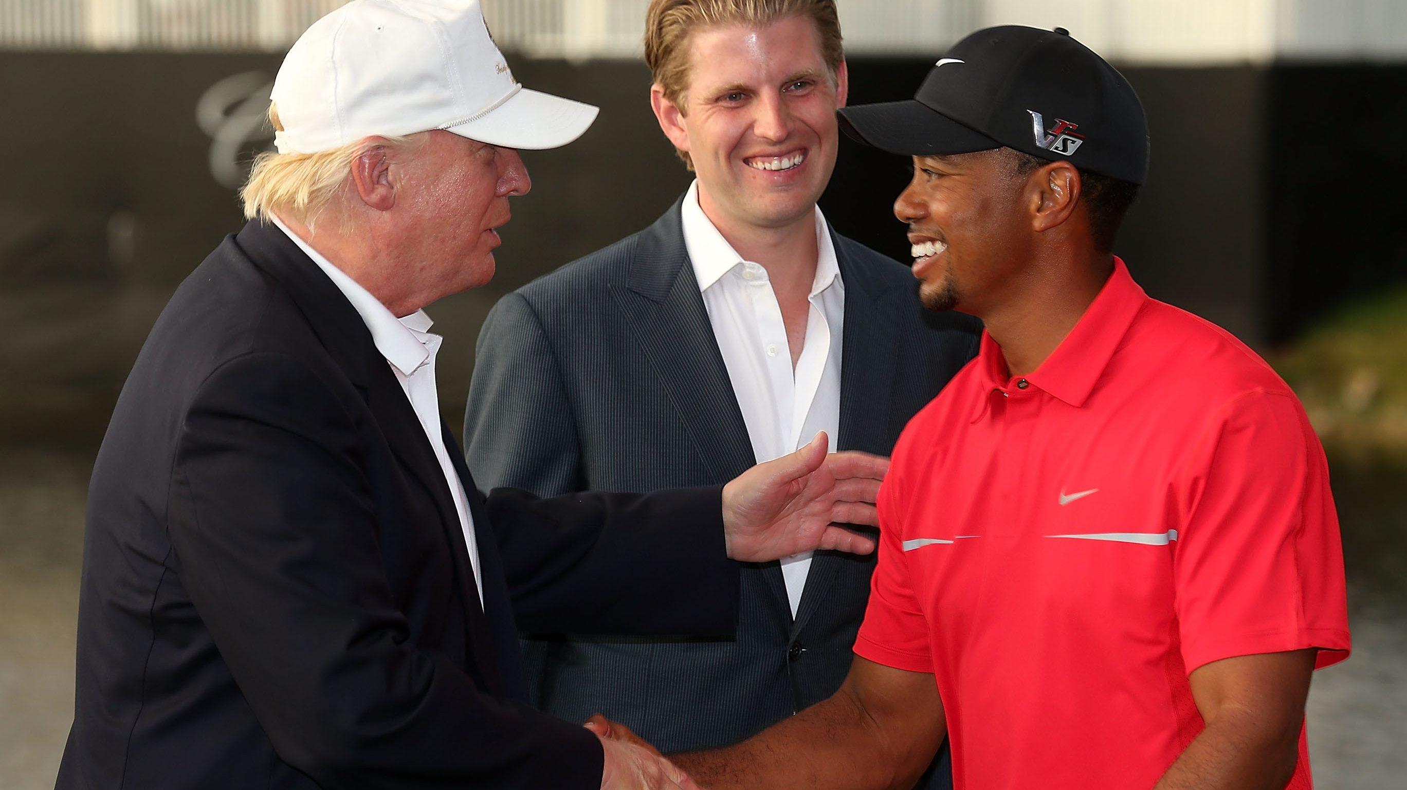 Tiger Woods Donald Trump