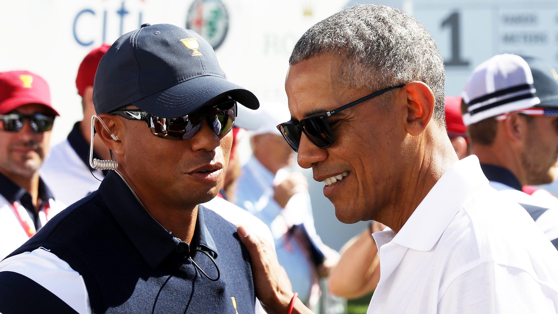 Tiger Woods Barack Obama