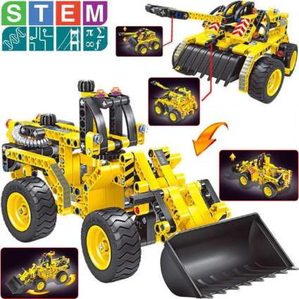 Gili Bulldozer & Tank Building Sets for Kids