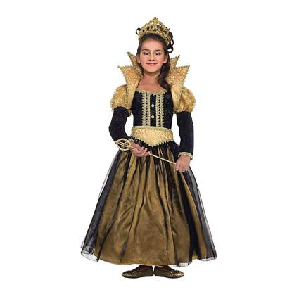 black and gold girls renaissance princess costume