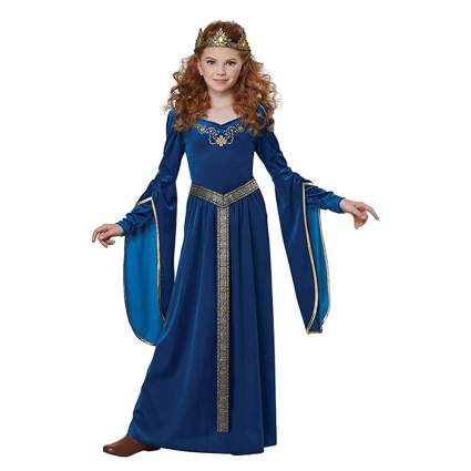 blue renaissance queen girls costume