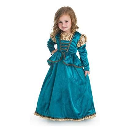 turquoise velvet princess costume