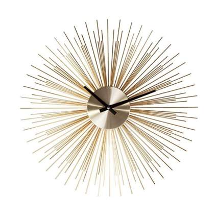 gold metallic urchin wall clock