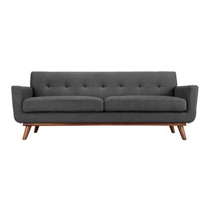 gray mid century modern sofa