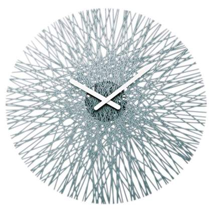 gray silk starburst clock