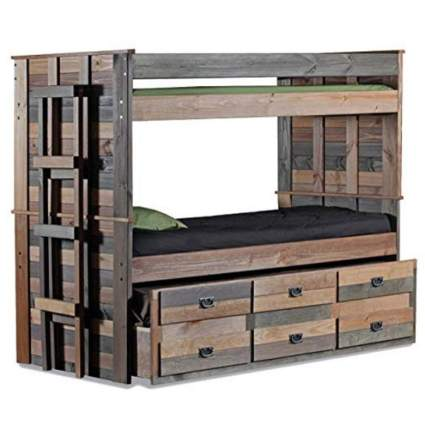 Hulaloveshop Unique Vintage Bunk Bed Twin Over Twin Loft Style