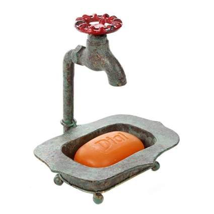 verdigris steampunk soap dish