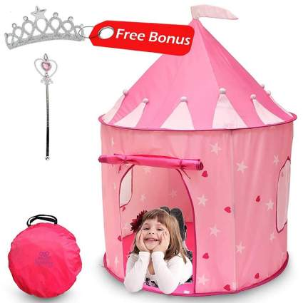 Kiddey Princess Castle Play Tent (Pink)
