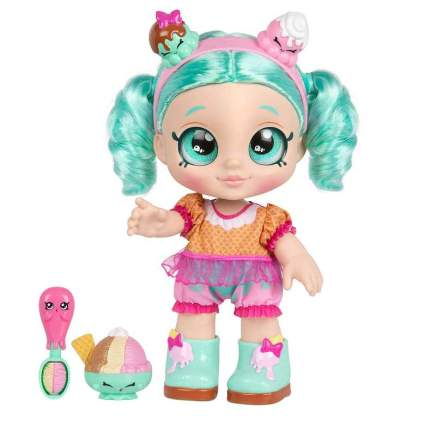 Kindi Kids Snack Time Friends, Pre-School 10 inch Doll - Peppa-Mint