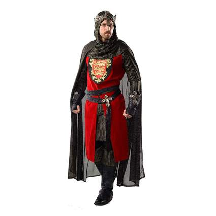 red and black King Richard costume