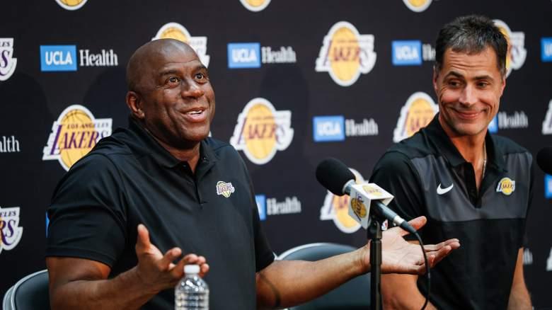 "Earvin ""Magic"" Johnson & Rob Pelinka Los Angeles Lakers"