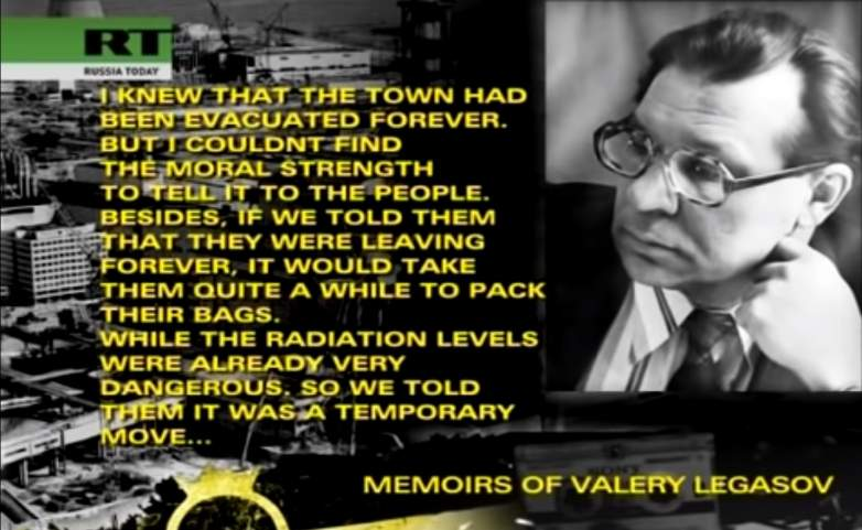 Valery Legasov describes evacuation