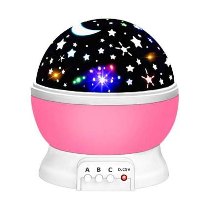 LET'S GO! Starry Night Light Projector 360 Degree Rotation