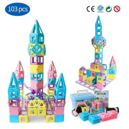 Magnetic Building Blocks STEM Educational Toys Tiles Set