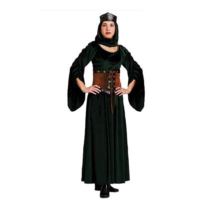 green velvet maid marian costume