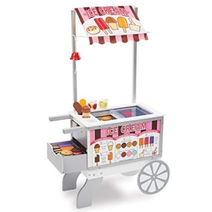 Melissa & Doug Wooden Snacks and Sweets Food Cart