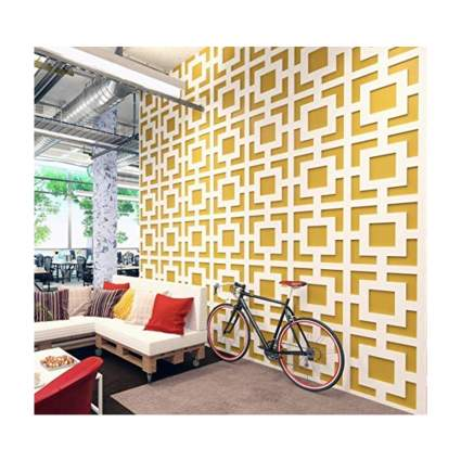 white architectural wall panels