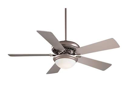 brushed steel ceiling fan with remote