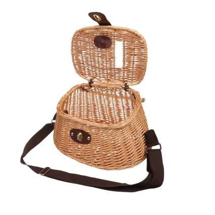 MonkeyJack Fish Basket Wicker Fishing Creel