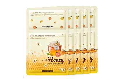 manuka honey infused sheet mask facial