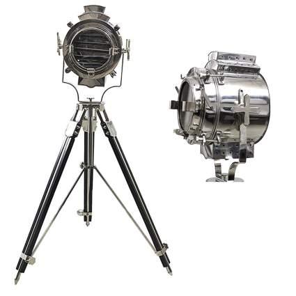 chrome nautical searchlight floor lamp