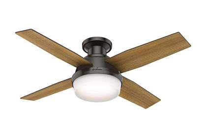 oiled bronze ceiling fan with lamp