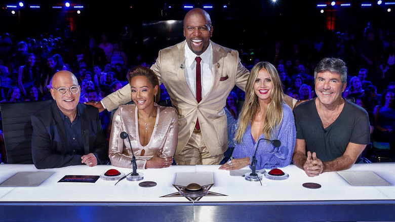 Heidi Klum and Mel B On AGT
