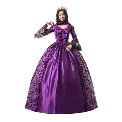 purple and black dark queen costume