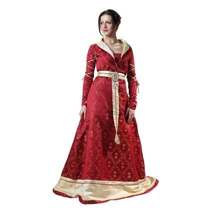 red fleur de lis renaissance gown