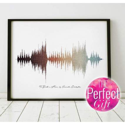 Ombre soundwave art