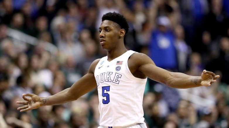 Lakers Anthony Davis trade Knicks RJ Barrett