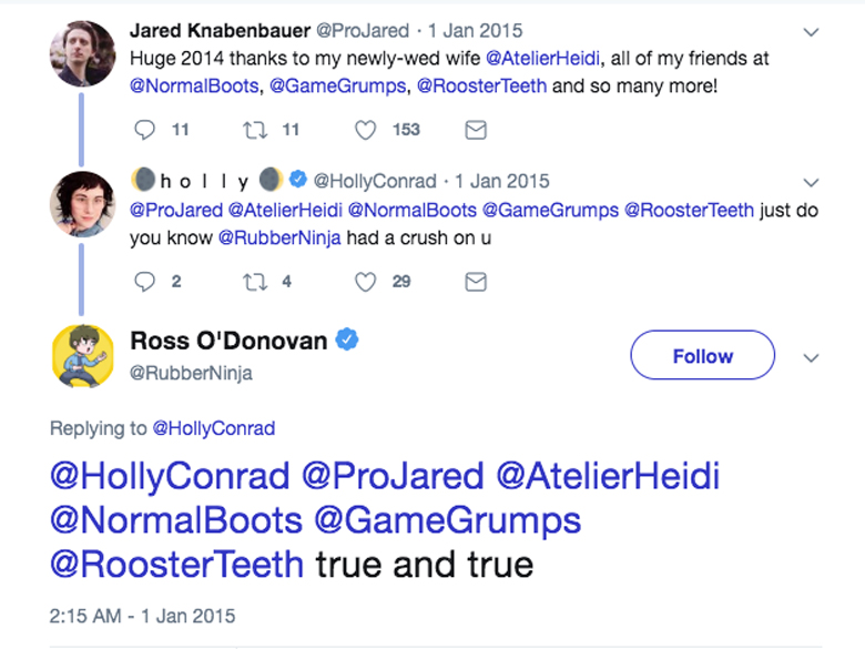 Ross O'Donovan Heidi O'Ferrell ProJared