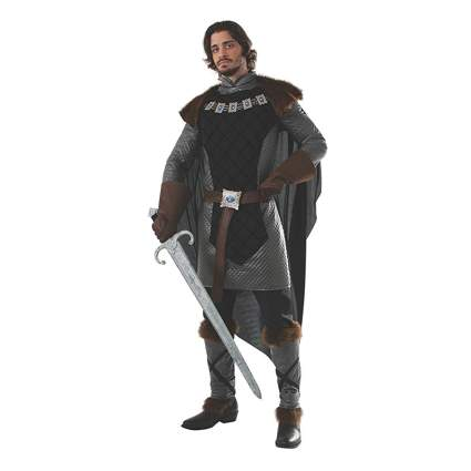 gray and black medieval prince costume