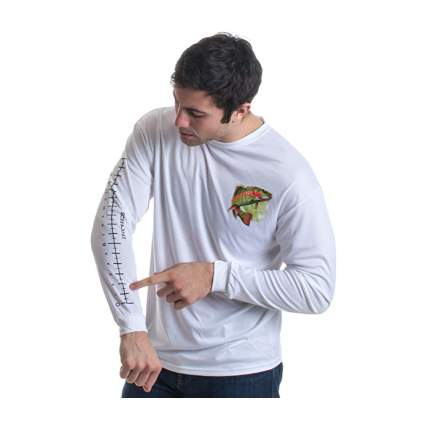 Long Sleeve Wicking Fisherman Shirt With 16 Inch Forearm Ruler
