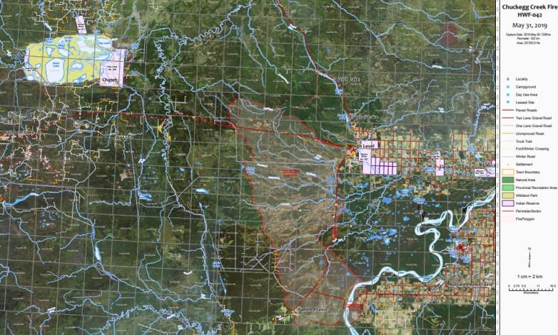 Chuckegg Creek Fire Map