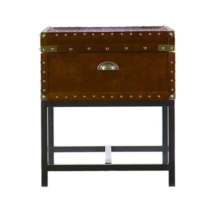 wooden steamer trunk end table