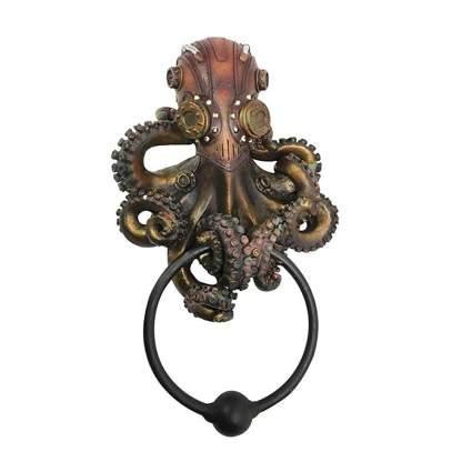 bronze steampunk octopus door knocker